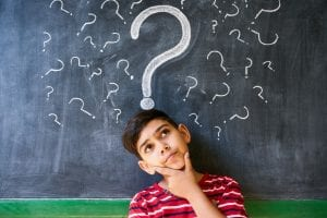Child Thinking on a Question